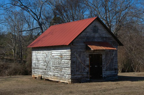 Round Oak GA Jones County Vernacular Building Photograph Copyright Brian Brown Vanishing North Georgia USA 2015
