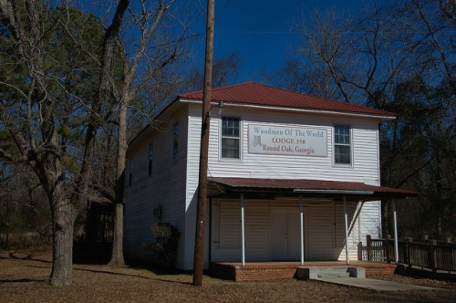 Round Oak GA Jones County Woodmen of the World Lodge 358 Photograph Copyright Brian Brown Vanishing North Georgia USA 2015
