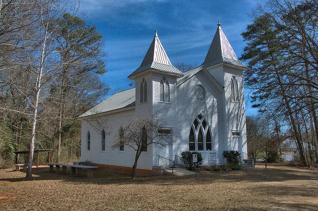 Swords Methodist Church Morgan County GA Photograph Copyright Brian Brown Vanishing North Georgia USA 2015