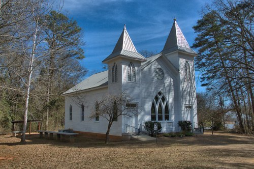 Swords Methodist Church Morgan County GA Photograph Copyright Brian Brown Vanishing North Georgia USA 2015