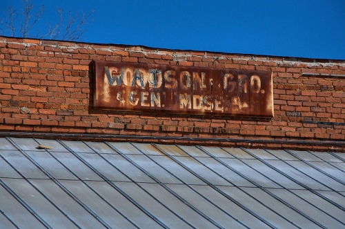 Watson Goodman Grocery Wayside GA Jones County Ghost Town Photograph Copyright Brian Brown Vanishing North Georgia USA 2015