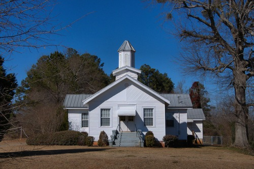 Wayside Presbyterian Church Jones County GA Photograph Copyright Brian Brown Vanishing North Georgia USA 2015