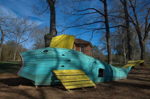 Apalachee Baptist Church Playground Jonah and the Whale Photograph Copyright Brian Brown Vanishing North Georgia USA 2015