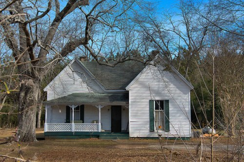 Apalachee GA Morgan County Folk Victorian House Photograph Copyright Brian Brown Vanishing North Georgia USA 2015