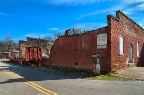 Bostwick GA Bostwick Supply Structure Collapsing Photograph Copyright Brian Brown Vanishing North Georgia USA 2015
