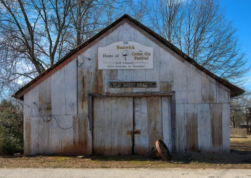 Bostwick GA Livery Feed Stable Photograph Copyright Brian Brown Vanishing North Georgia USA 2015
