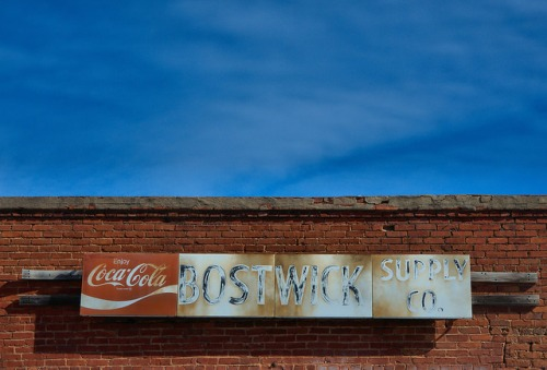 Bostwick Supply Company Morgan County GA Coca Cola Sign Photograph Copyright Brian Brown Vanishing North Georgia USA 2015