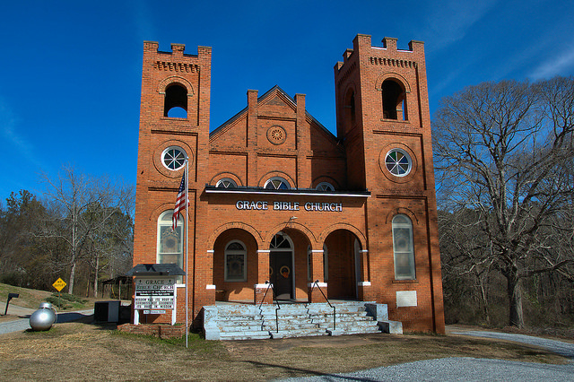 Buckhead GA Morgan County Methodist Church Grace Bible Church Photograph Copyright Brian Brown Vanishing North Georgia USA 2015