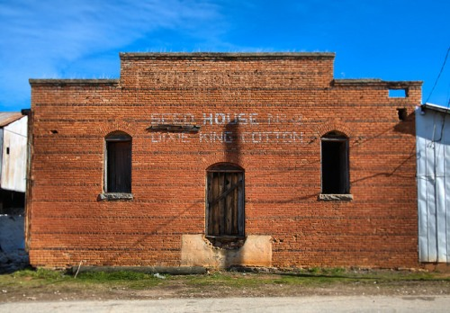 Dixie King Cotton Seed House Bostwick GA Photograph Copyright Brian Brown Vanishing North Georgia USA 2015