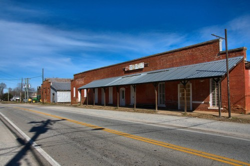 Downtown Bostwick GA Photograph Copyright Brian Brown Vanishing North Georgia USA 2015