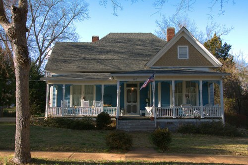 Eatonton GA Historic District Folk Victorian House Photograph Copyright Brian Brown Vanishing South Georgia USA 2015