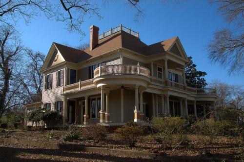 Eatonton GA Historic District Neoclassical Revival House Photograph Copyright Brian Brown Vanishing North Georgia USA 2015