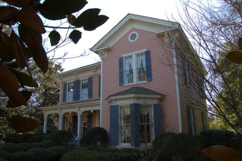 Eatonton GA Historic District Pink House Italianate Architecture Photograph Copyright Brian Brown Vanishing North Georgia USA 2015