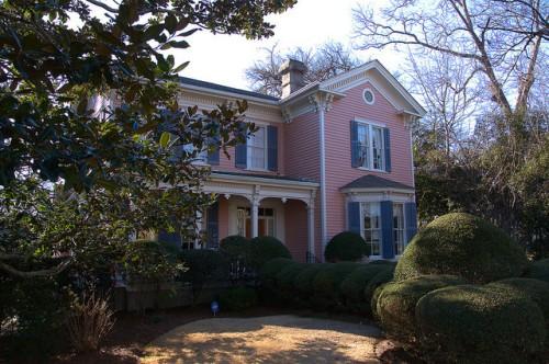 Eatonton GA Historic District Pink Italianate House Photograph Copyright Brian Brown Vanishing North Georgia USA 2015