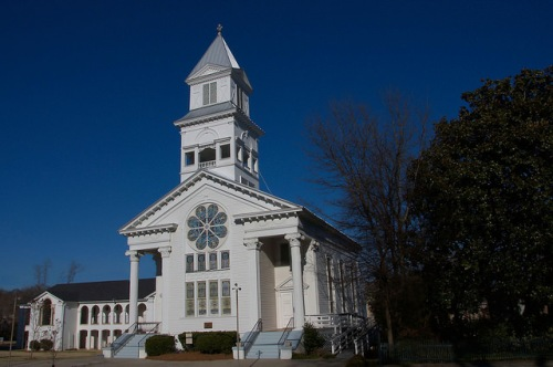 Eatonton GA Historic United Methodist Church Photograph Copyright Brian Brown Vanishing North Georgia USA 2015