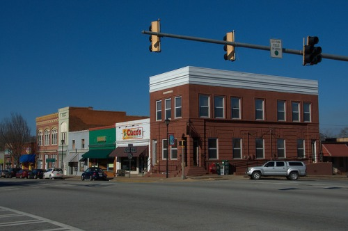 Eatonton GA Jefferson AvenueHistoric Downtown Photograps Copyright Brian Brown Vanishing North Georgia USA 2015