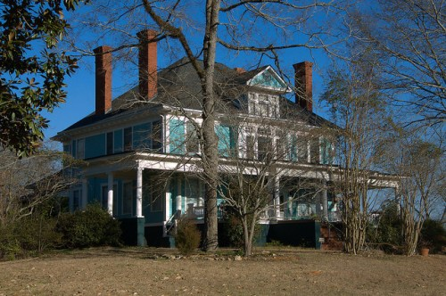 Historic Eatonton GA Explore Georgia Colonial Revival House Photograph Copyright Brian Brown Vanishing North Georgia USA 2015