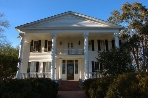 Historic Eatonton GA Neoclassical Revival Architecture Plantation Trace Photograph Copyright Brian Brown Vanishing North Georgia USA 2015