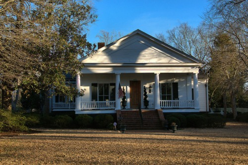 Historic Madison GA Baldwin Williford Ruffin House Greek Revival Photograph Copyright Brian Brown Vanishing North Georgia USA 2015