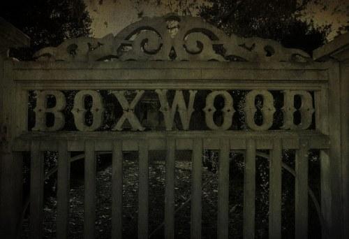 Historic Madison GA Boxwood House Gate Photograph Copyright Brian Brown Vanishing North Georgia USA 2015