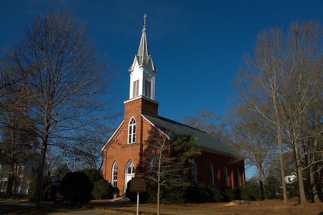 Historic Madison GA Episcopal Church of the Advent Photograph Copyright Brian Brown Vanishing North Georgia USA 2015