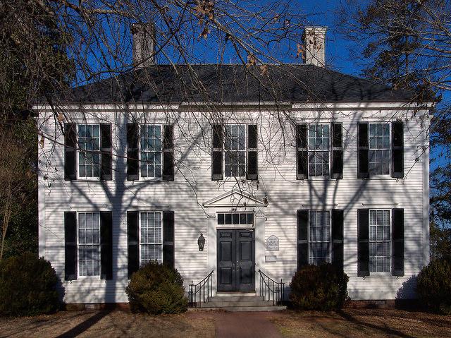 Historic Madison GA Episcopal Parish Hall Photograph Copyright Brian Brown Vanishing North Georgia USA 2015