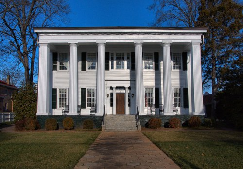 Historic Madison GA Heritage Hall Historic House Photograph Copyright Brian Brown Vanishing North Georgia USA 2015