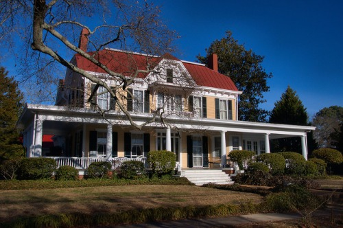 Historic Madison GA Italianate House Photograph Copyright Brian Brown Vanishing North Georgia USA 2015