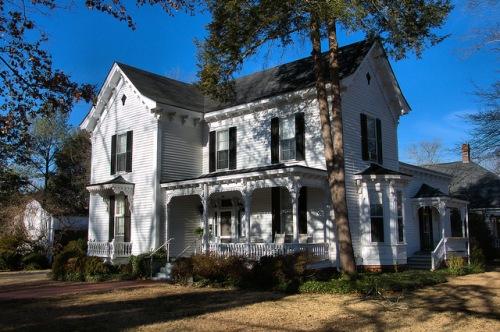 Historic Madison GA Owen Landry House Photograph Copyright Brian Brown Vanishing North Georgia USA 2015