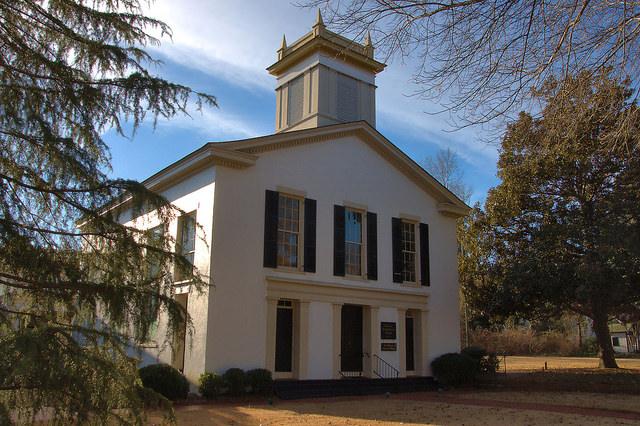 Historic Madison Presbyterian Church Morgan County GA Antebellum Landmark Photograph Copyright Brian Brown Vanishing North Georgia USA 2015