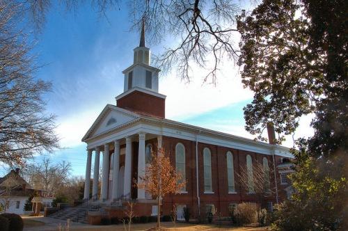 Madison Baptist Church Morgan County GA Photograph Copyright Brian Brown Vanishing North Georgia USA 2015