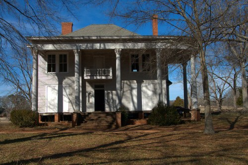 Nolan House Bostwick GA Neoclassical Mansion Photograph Copyright Brian Brown Vanishing North Georgia USA 2015