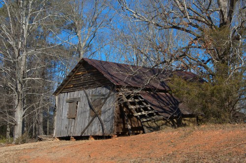 Nolan Plantation Collapsing Barn Photograph Copyright Brian Brown Vanishing North Georgia USA 2015