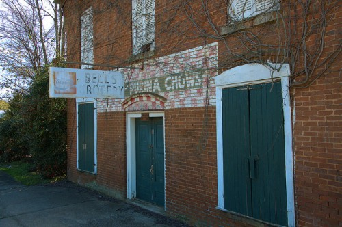 T L Bell's Grocery Purina Chows Buckhead GA Morgan County Photograph Copyright Brian Brown Vanishing North Georgia USA 2015