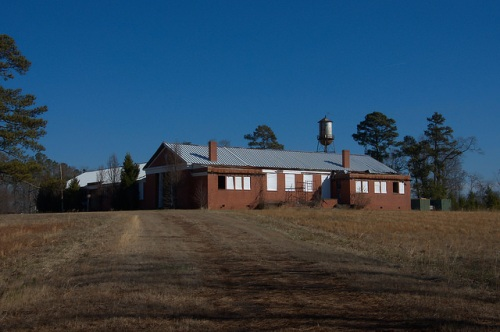 Abandoned School House Putnam County GA Photograph Copyright Brian Brown Vanishing North Georgia USA 2015