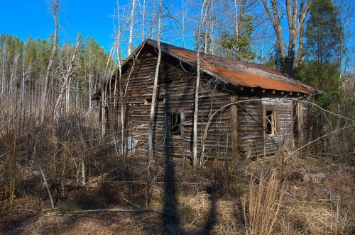 Abandoned Tenant House Shoulderbone Community GA Hancock County Photograph Copyright Brian Brown Vanishing North Georgia USA 2015