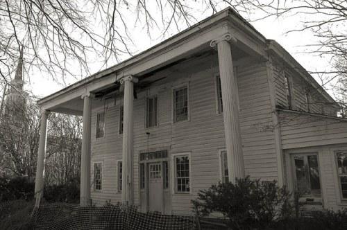 Eatonton GA First US Marshall Headquarters in Central GA Civil War Hospital Endangered Antebellum House Photograph Copyright Brian Brown Vanishing North Georgia USA 2015