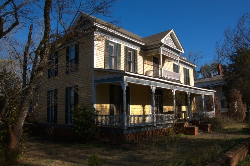 Eatonton GA Historic Federal House Modified Photograph Copyright Brian Brown Vanishing North Georgia USA 2015