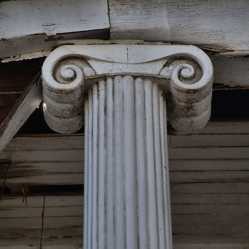 Historic Eatonton GA Ionic Column Photograph Copyright Brian Brown Vanishing North Georgia USA 2015