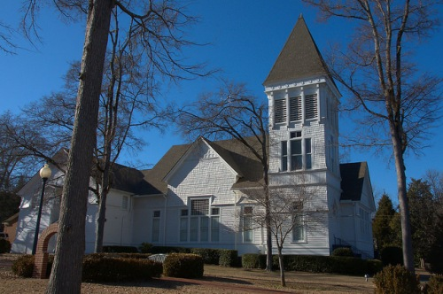 Historic Eatonton Presbyterian Church Photograph Copyright Brian Brown Vanishing North Georgia USA 2015