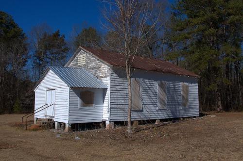 Historic Wards Chapel AME Church Alice Walkers Childhood Congregation Putnam County GA Photograph Copyright Brian Brown Vanishing North Georgia USA 2015