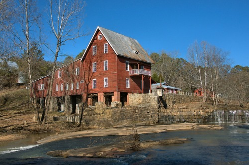 Millmore Baxter Sparta Mill Shoulderbone Creek Hancock County GA Photograph Copyright Brian Brown Vanishing North Georgia USA 2015