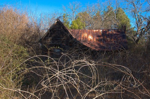 Putnam County Abandoned Farmhouse Photograph Copyright Brian Brown Vanishing North Georgia USA 2015
