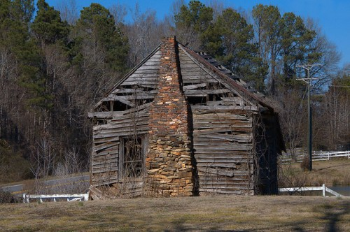 Turnwold Plantation Putnam County GA Historic Tenant Cabin Photograph Copyright Brian Brown Vanishing North Georgia USA 2015