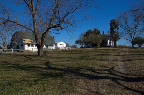 Turnwold Plantation Putnam County GA Joel Chandler Harris Photograph Copyright Brian Brown Vanishing North Georgia USA 2015