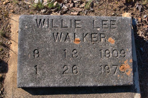 Wards Chapel AME Cemetery Willie Lee Walker Headstone Alice Walker's Father Photograph Copyright Brian Brown Vanishing North Georgia USA 2015