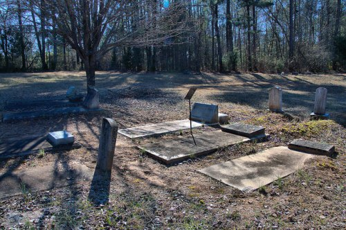 Wards Chapel AME Church Cemetery Alice Walker Family Plot Putnam County GA Photograph Copyright Brian Brown Vanishing North Georgia USA 2015