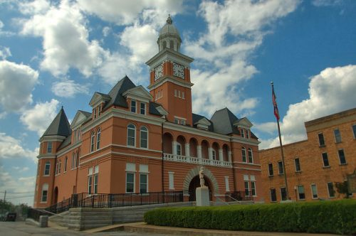 Elbert County Courthouse Elberton GA Photograph Copyright Brian Brown Vanishing North Georgia USA 2015