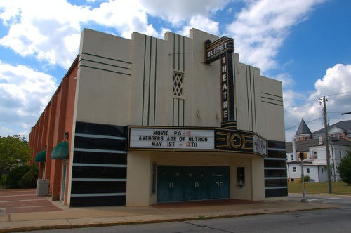 Elbert Theatre Art Deco Landmark Elberton GA Photograph Copyright Brian Brown Vanishing North Georgia USA 2015