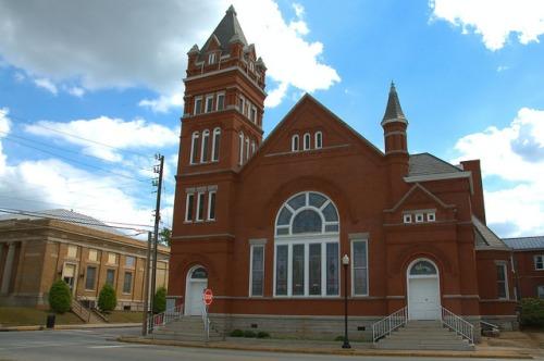 Elberton GA Historic First Baptist Church Photograph Copyright Brian Brown Vanishing North Georgia USA 2015